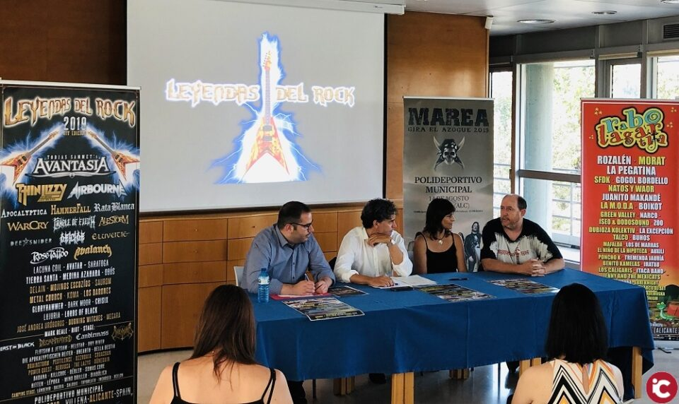 Leyendas del Rock y Rabolagartija reciben el apoyo de la Generalitat Valenciana