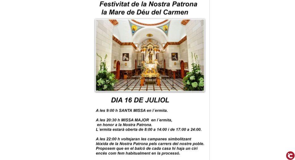 Festivitat de la Nostra Patrona la Mare de Déu del Carmen