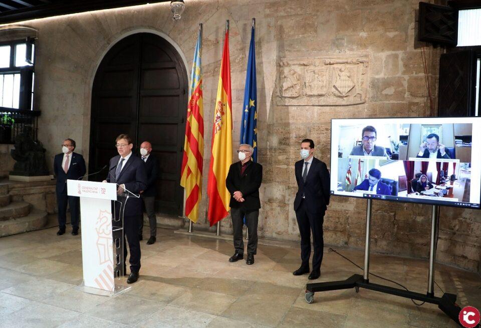 Ximo Puig anuncia que la línea de ayudas Paréntesis para los autónomos y microempresas más afectados por las restricciones de la COVID-19 estará dotada con 160 millones de euros