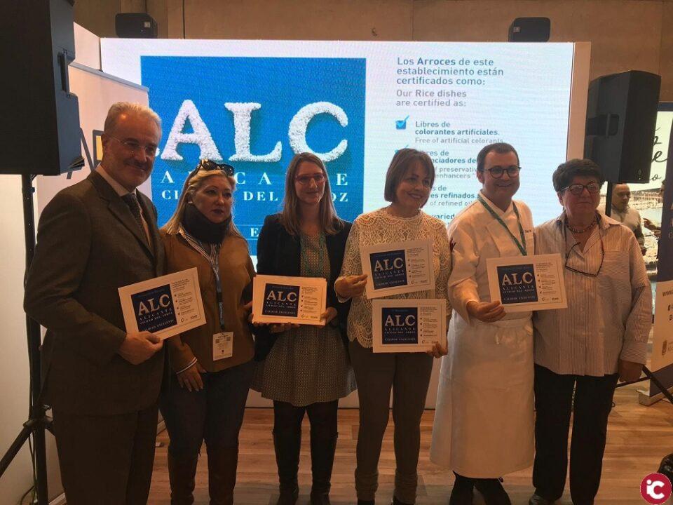 El Ayuntamiento de Alicante presenta en FITUR el I Certamen Internacional Alicante Ciudad del Arroz y entrega a diez restaurantes su certificado de calidad