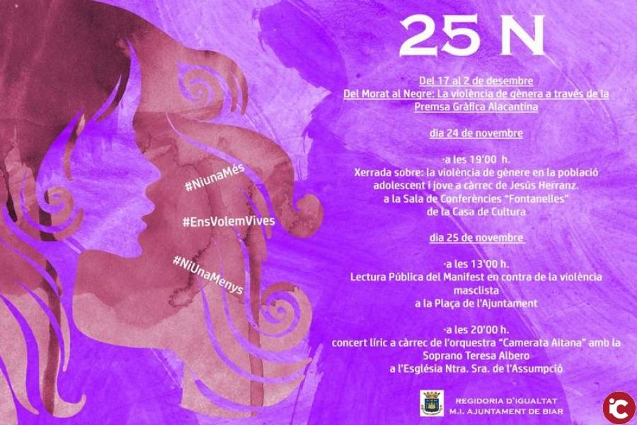 Lectura pública del manifest en contra de la violencia masclista